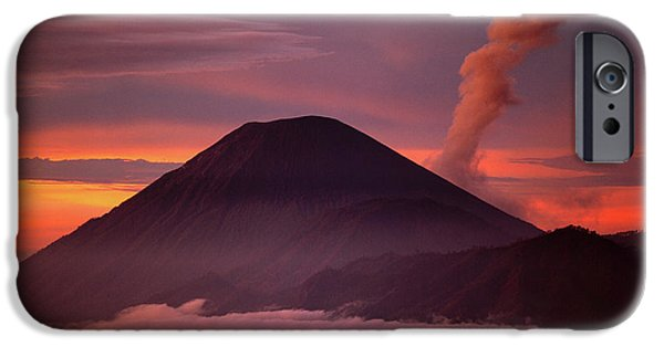 Mountain iPhone 6s Case - Indonesia Mt Semeru Emits A Plume by Jaynes Gallery