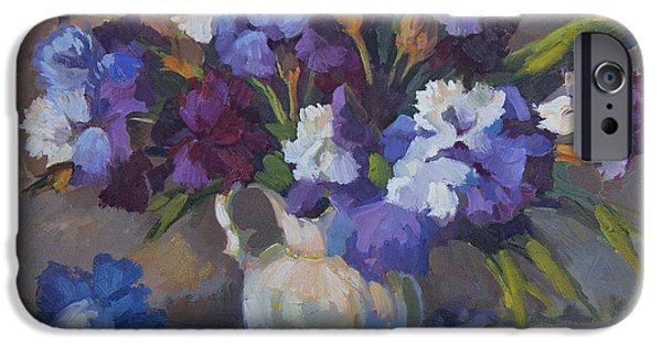 Irises IPhone Case by Diane McClary