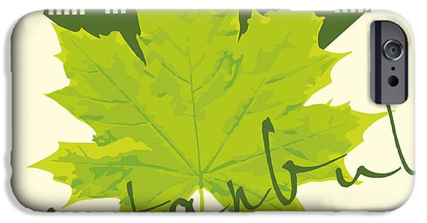 Castle iPhone 6s Case - Istanbul City And Sycamore Leaf Vector by A1vector