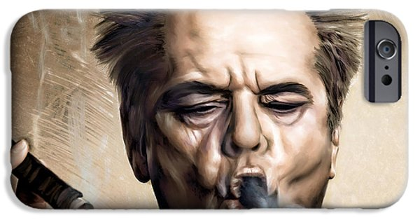 Jack Nicholson IPhone 6s Case by Andrzej Szczerski