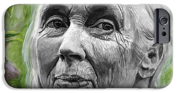 Jane Goodall IPhone 6s Case by Simon Kregar