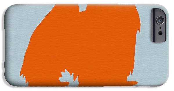 Japanese Chin Orange IPhone Case by Naxart Studio