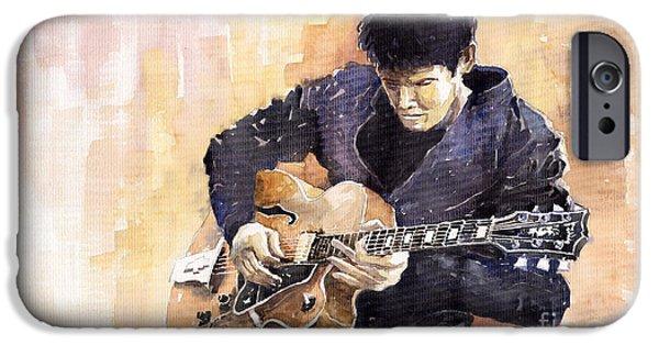 Impressionism iPhone 6s Case - Jazz Rock John Mayer 02 by Yuriy Shevchuk