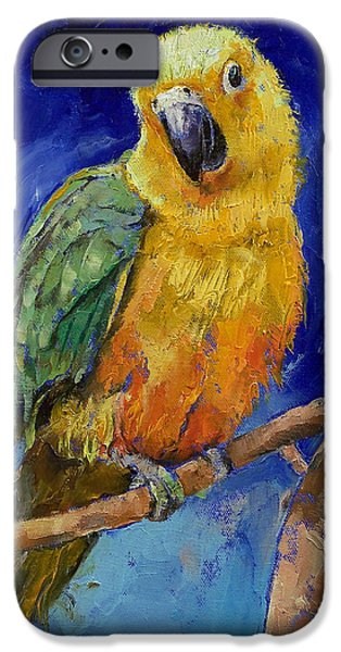Macaw iPhone 6s Case - Jenday Conure by Michael Creese