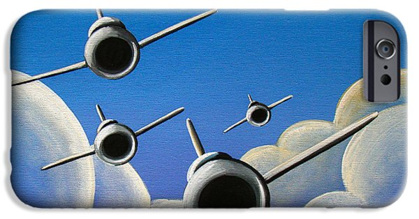 Airplane iPhone 6s Case - Jet Quartet by Cindy Thornton