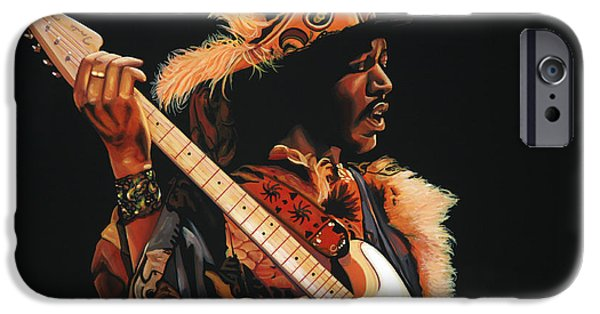 Knight iPhone 6s Case - Jimi Hendrix 3 by Paul Meijering