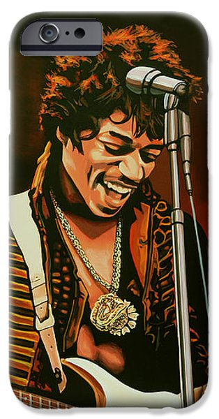 Knight iPhone 6s Case - Jimi Hendrix Painting by Paul Meijering