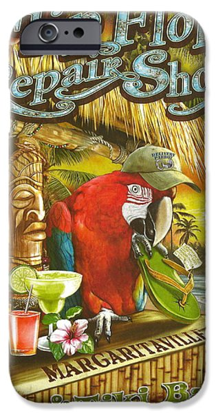 Jimmy Buffett's Flip Flop Repair Shop IPhone 6s Case by Desiderata Gallery