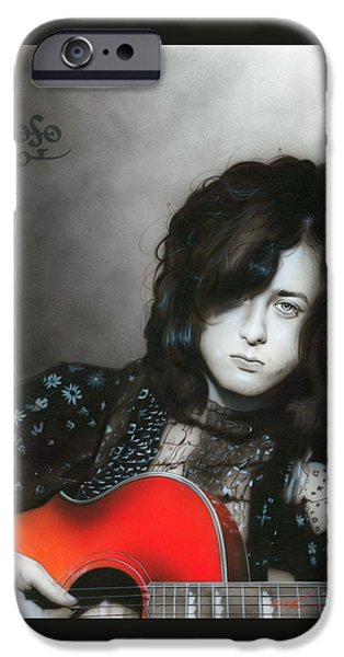 Jimmy Page iPhone 6s Case - Jimmy Page by Christian Chapman Art