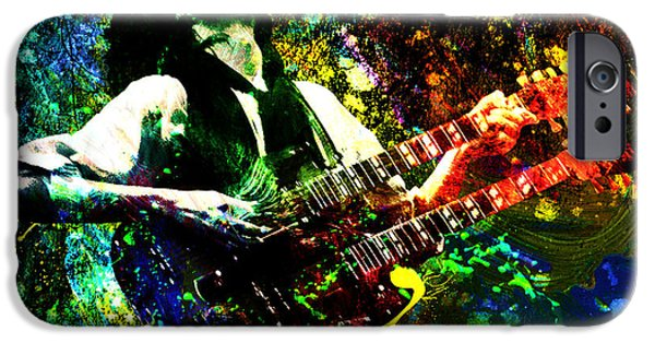 Jimmy Page - Led Zeppelin - Original Painting Print IPhone 6s Case by Ryan Rock Artist