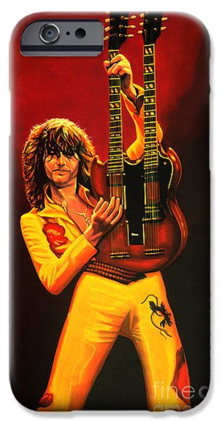 Jimmy Page Painting IPhone 6s Case by Paul Meijering