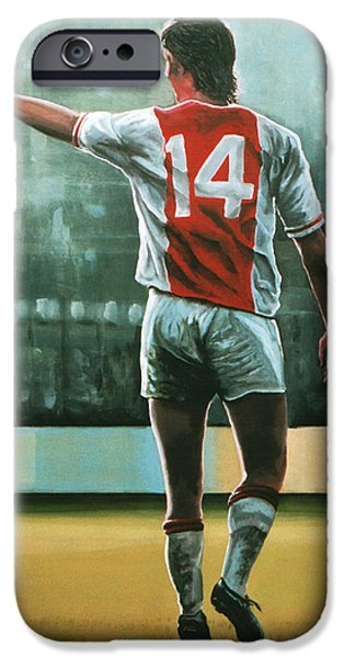 Barcelona iPhone 6s Case - Johan Cruijff Nr 14 Painting by Paul Meijering