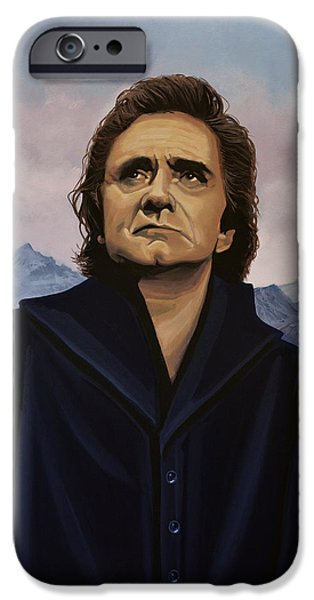 Johnny Cash Painting IPhone 6s Case by Paul Meijering