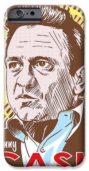 Johnny Cash Pop Art IPhone 6s Case by Jim Zahniser
