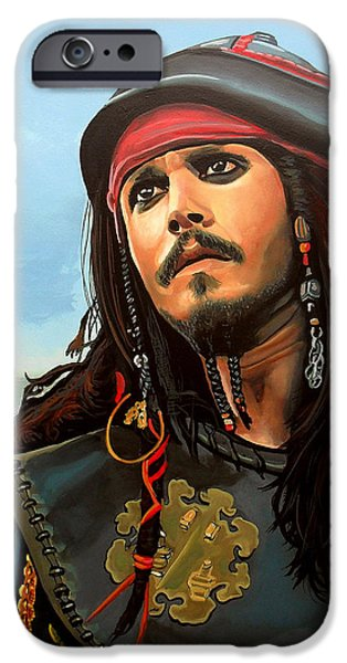 Johnny Depp As Jack Sparrow IPhone 6s Case by Paul Meijering