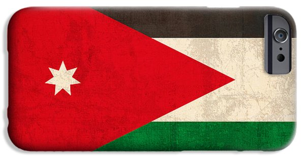 Jordan Flag Vintage Distressed Finish IPhone Case by Design Turnpike