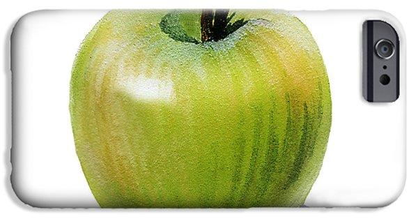IPhone 6s Case featuring the painting Juicy Green Apple by Irina Sztukowski