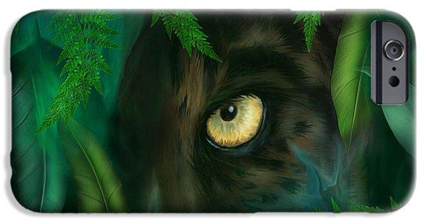 Jungle Eyes - Panther IPhone 6s Case by Carol Cavalaris
