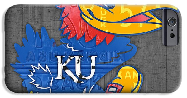 Kansas Jayhawks College Sports Team Retro Vintage Recycled License Plate Art IPhone 6s Case by Design Turnpike