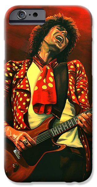 Rolling Stone Magazine iPhone 6s Case - Keith Richards Painting by Paul Meijering