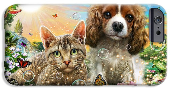 Kitten And Puppy IPhone Case by Adrian Chesterman