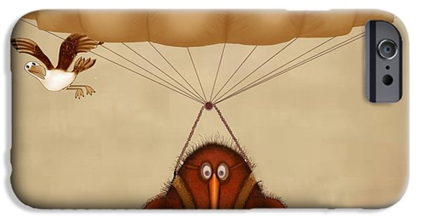 Kiwi Bird Kev Parachuting IPhone 6s Case by Marlene Watson