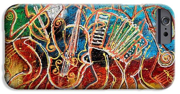 Saxophone iPhone 6s Case - Klezmer Music Band by Leon Zernitsky
