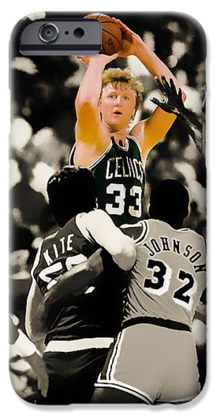 Larry Bird IPhone 6s Case by Brian Reaves