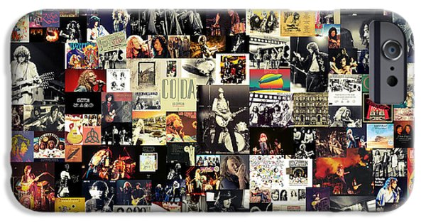 Musicians iPhone 6s Case - Led Zeppelin Collage by Zapista