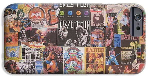 Drum iPhone 6s Case - Led Zeppelin Years Collage by Donna Wilson