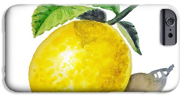 Artz Vitamins The Lemon IPhone 6s Case by Irina Sztukowski