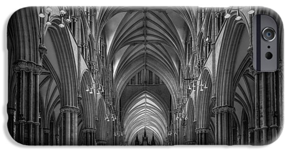 Lincoln Cathedral Nave IPhone Case by Ian Barber