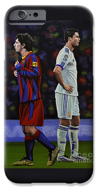 Barcelona iPhone 6s Case - Lionel Messi And Cristiano Ronaldo by Paul Meijering