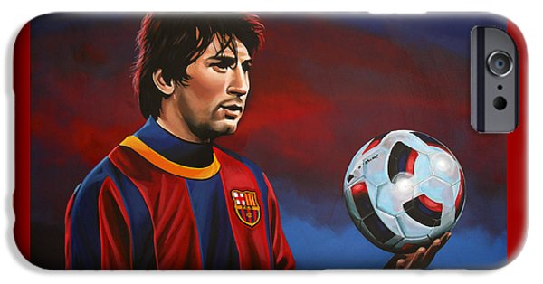 Barcelona iPhone 6s Case - Lionel Messi 2 by Paul Meijering
