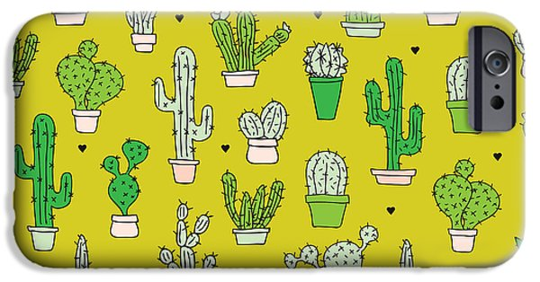 Little Cactus Botanical Garden IPhone 6s Case by Maaike Boot