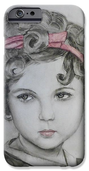 Little Shirley Temple IPhone 6s Case by Kelly Mills