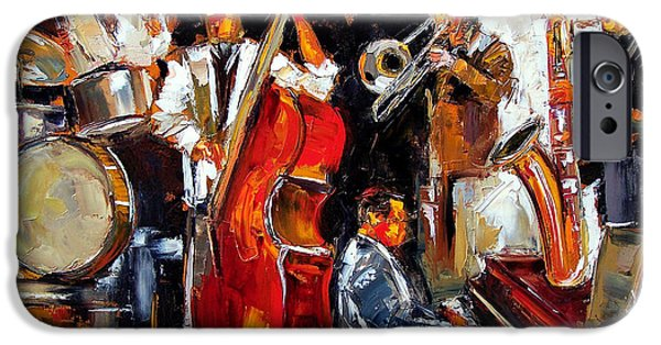 Trombone iPhone 6s Case - Living Jazz by Debra Hurd
