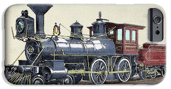 Locomotive Drawing R Loewenstein 'la IPhone Case by Prisma Archivo