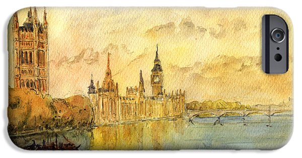 London Thames River IPhone 6s Case by Juan  Bosco