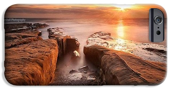 iPhone 6s Case - Long Exposure Sunset At A Rocky Reef In by Larry Marshall