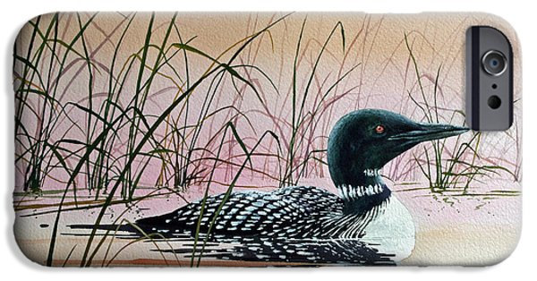 Loon iPhone 6s Case - Loon Sunset by James Williamson