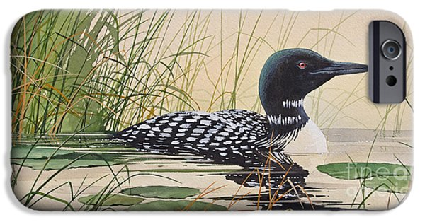 Loon iPhone 6s Case - Loon's Tranquil Shore by James Williamson