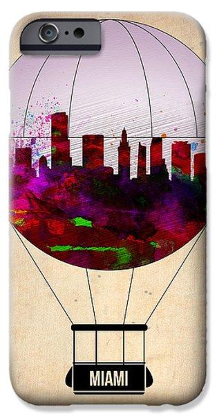 Miami iPhone 6s Case - Miami Air Balloon 1 by Naxart Studio