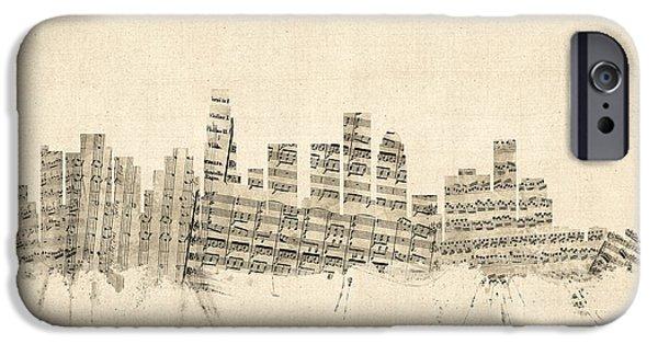 Los Angeles California Skyline Sheet Music Cityscape IPhone 6s Case