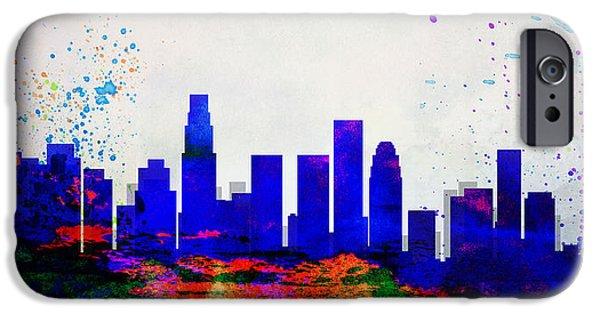 Los Angeles City Skyline IPhone 6s Case by Naxart Studio