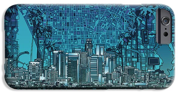 Los Angeles Skyline Abstract 5 IPhone 6s Case