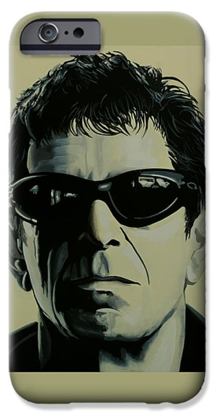 Ostrich iPhone 6s Case - Lou Reed Painting by Paul Meijering