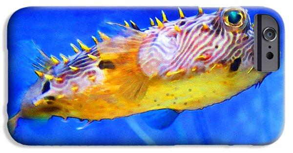 Leopard iPhone 6s Case - Magic Puffer - Fish Art By Sharon Cummings by Sharon Cummings