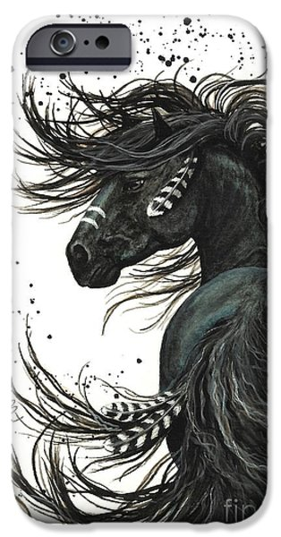 Portraits iPhone 6s Case - Majestic Spirit Horse  by AmyLyn Bihrle