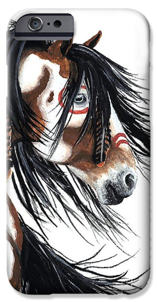 Horse iPhone 6s Case - Majestic Pinto Horse by AmyLyn Bihrle